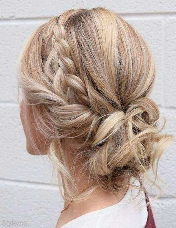 Braided Updo Hairstyle Ideas That are Easy to Wear In 2019