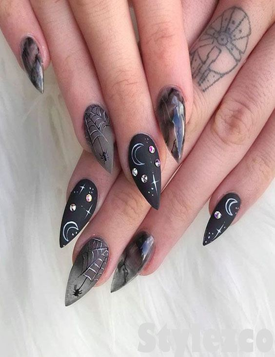 Edgy Black Nail Art Style Amp Designs To Try Right Now