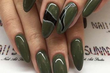 Fresh & Cute Green Nail Designs for Long Nail In 2018