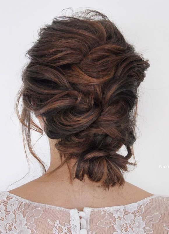 Messy Bridal Updo Hairstyles for 2019