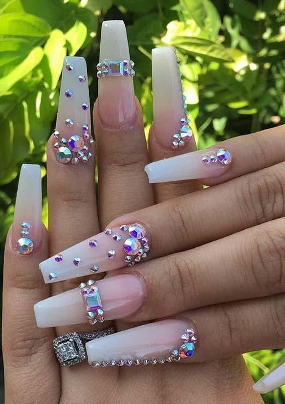Beautiful Long Nail Art Designs for Women 2019