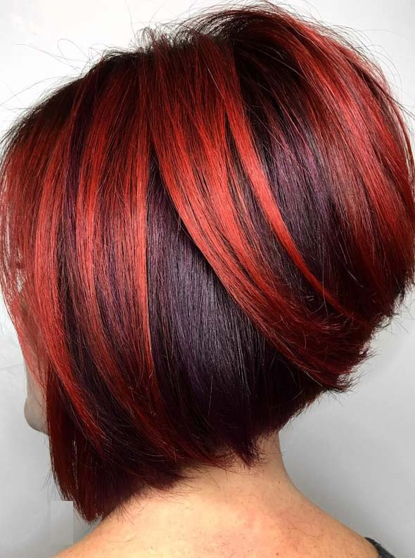 Hottest Red Hair Color Ideas For Short Bob Cuts In 2019