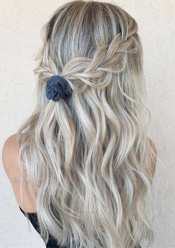 Tied up Braided Hairstyles for Long Hair in 2019