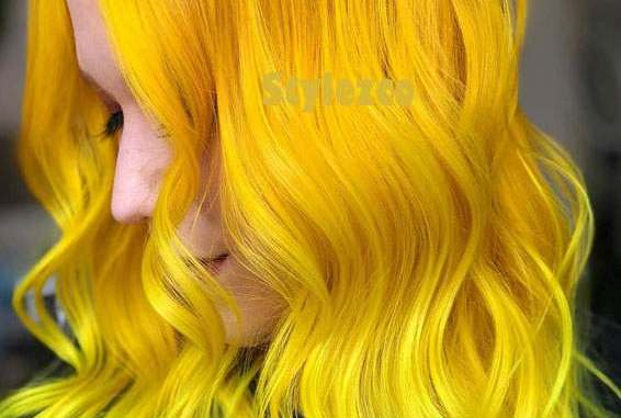 Bright Golden Yellow Hair Color Ideas For Everyone In 2019 Stylezco