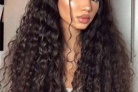 Cutest Long Curly Hairstyles With Top Knots in 2019
