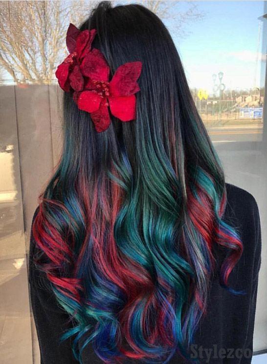 Gorgeous Rainbow Hair Color Ideas for Long Hair