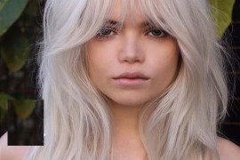 Amazing Ice Blond Sexy Hairstyles With Bangs in 2019
