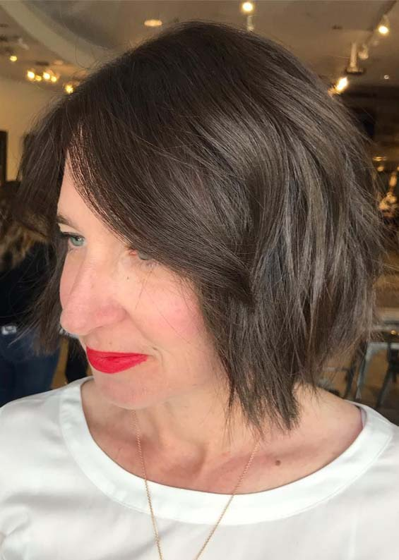 Blunt Textured Haircuts for Women in 2019