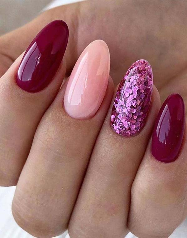 Burgundy Voilat Nail Polish Designs for 2019