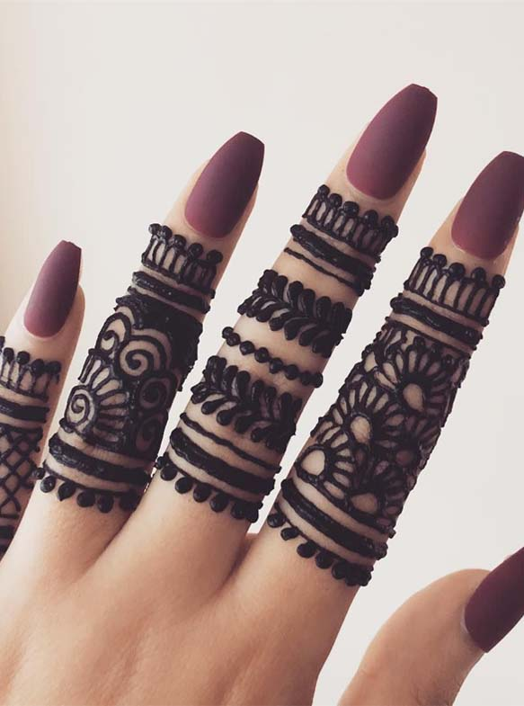 Simple Fingers Henna Designs for 2019