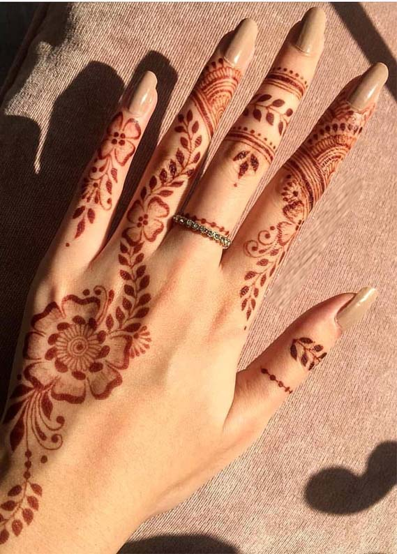 20 Simple Mehndi Designs For Hands Fingers In 2019 Stylezco