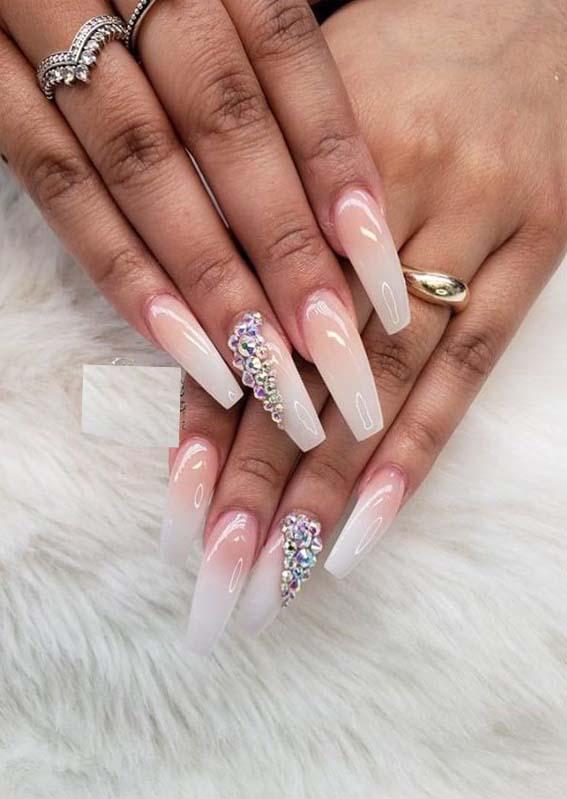 stunning long nail design