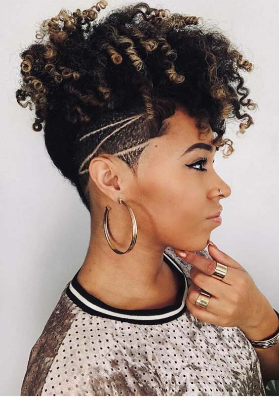 Best Undercut Short Curls For Black Women In 2019 Stylezco
