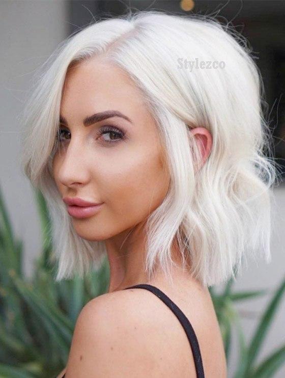 Unique Platinum Short Hairstyle Trends for 2019