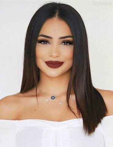 Fresh Makeup Look with Shoulder Length Hairstyles for 2019