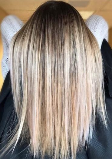 Sleek Straight Balayage Hairstyles in 2019