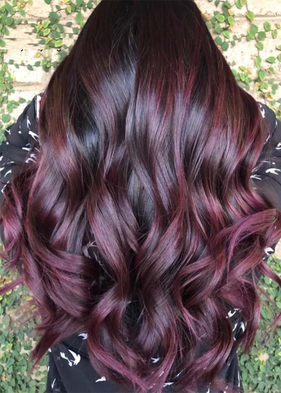 awesome plum hair color ideas &