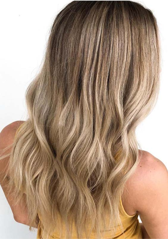 Rooted blonde balayage hair color ideas in 2019