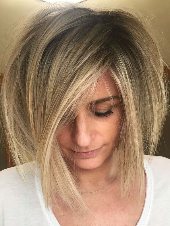 Best Short Bob Haircuts With Bangs For Women To Wear In 2019