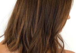 Sun-kissed Balayage Textured Medium Haircuts in 2019