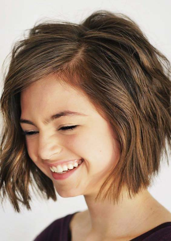 Textured Short Bob Haircuts in 2019