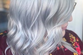 Titanium silver hair color trends for 2019