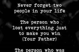 Never Forget Two People - Best Quote of the Week