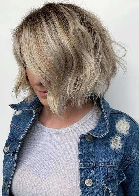 Blonde Balayage Short Bob Haircuts in 2019