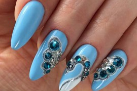Blue Nail Art Designs for Women 2019