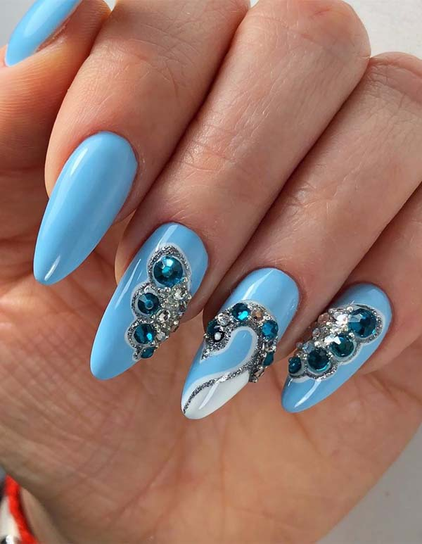 Blue Nail Art Designs for Women 2019