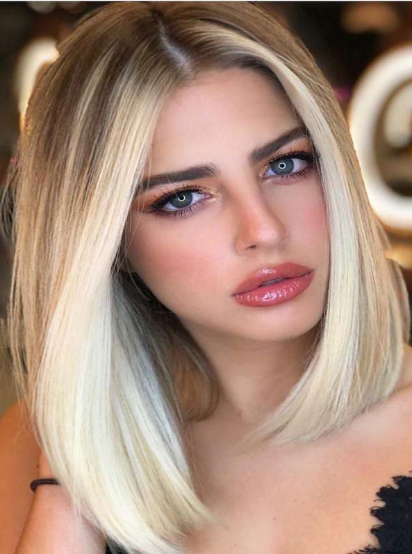 Face Framing Blonde Highlights for Lob Cuts for 2019