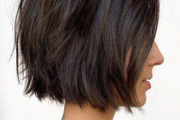 Super Cute Blunt Textured Short Bob Haircut In 2019