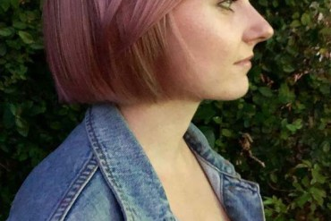 Pink lilac balayage haircuts for short hair in 2019