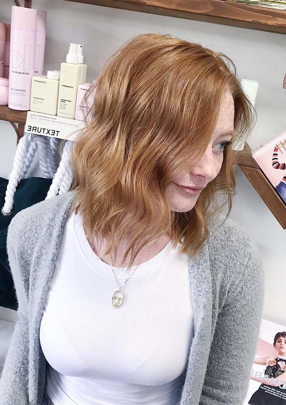 Strawberry blonde haircuts to wear in year 2019