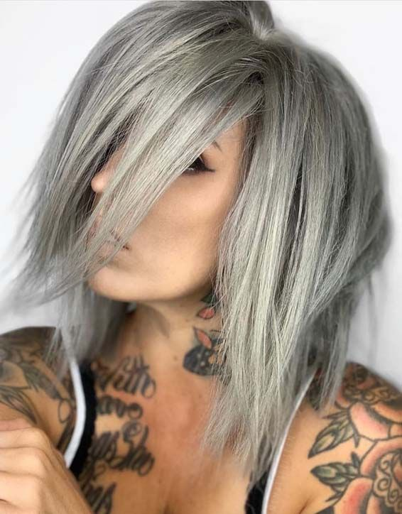 Perfect Silver Hair Highlights to Look Young Again