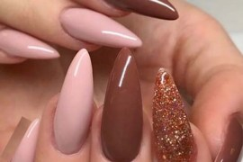 Gorgeous Combo Of Pink & Brown Nail Art Designs for 2019