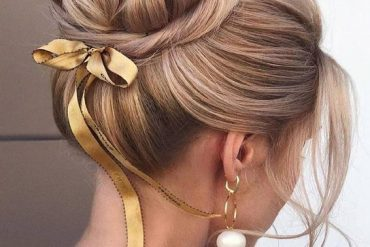 Excellent Updo Bun Hairstyles & Images In 2019
