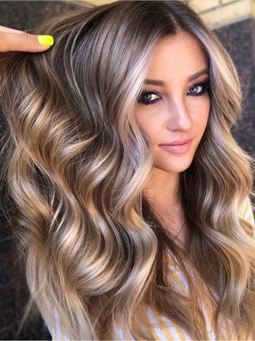 Fantastic Balayage for Long Thick Waves Hair in 2019