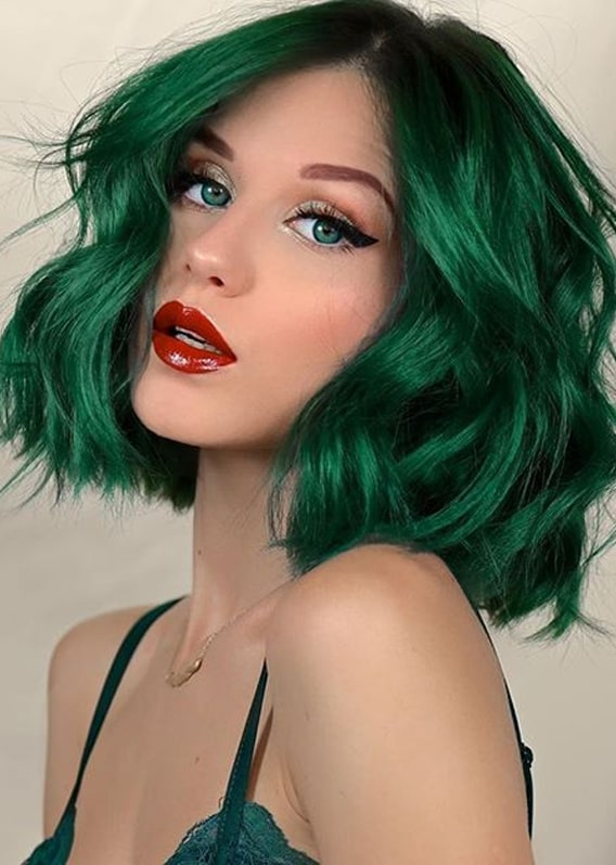 Brightest Green Hair Colors To Show Off In Year 2020 Stylezco