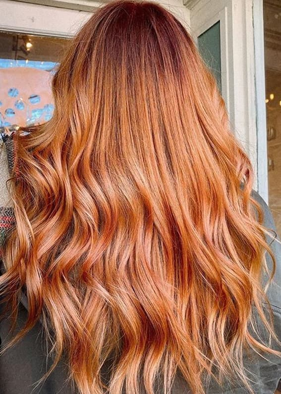 Amazing Combination Of Peach and Copper Hair Colors in 2020