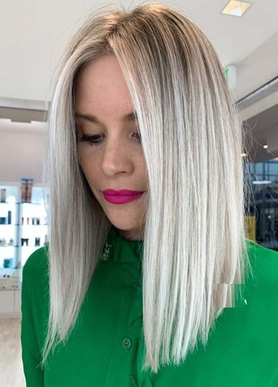 Fantastic Sleek Straight Blonde Hairstyles for Women in 2020