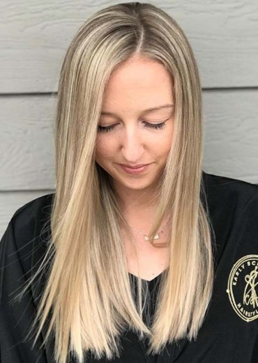 Full blonde highlights with a smudge root to Try in 2020
