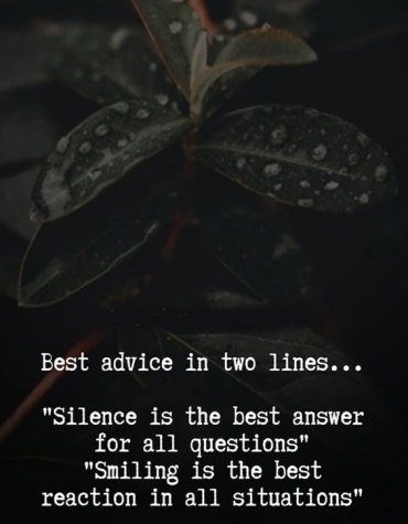 Silence is the Best Answer - Best Advice Quotes