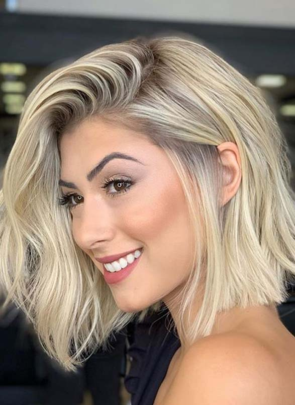Fantastic Lob Haircut Styles For Women With Blonde Shades