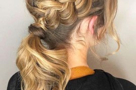 Gorgeous Ponytails with Side Braids for Women 2020