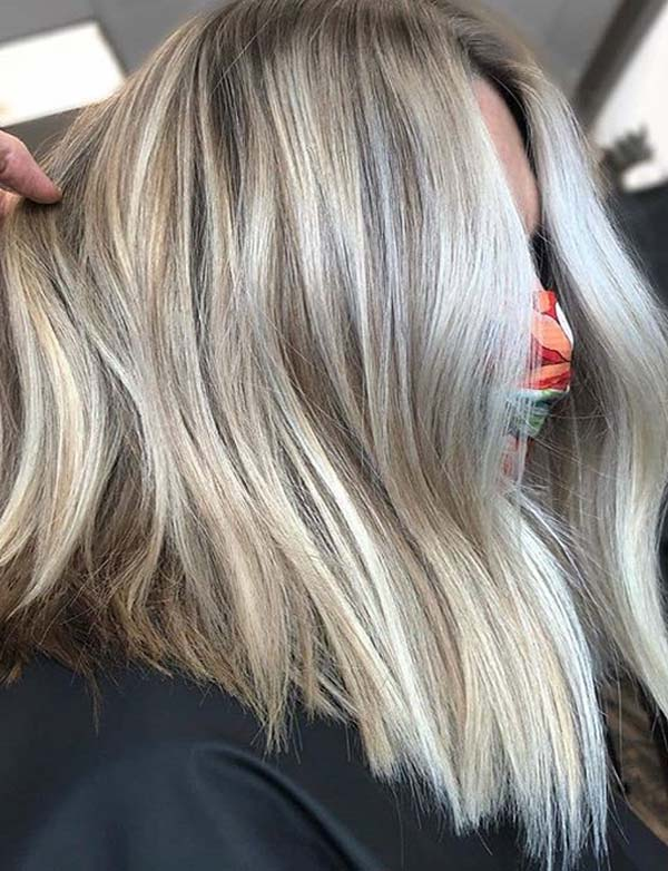 Gorgeous Blonde Lob Hairstyles for Women 2020