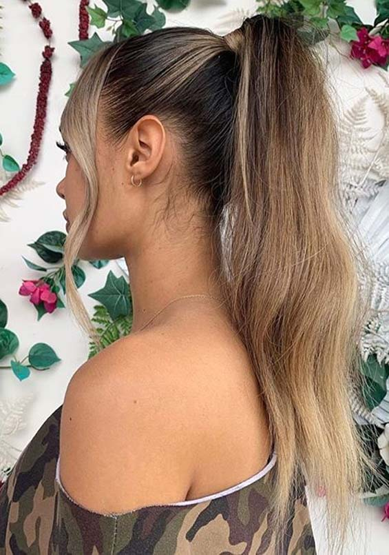 Adorable High Ponytail Hairstyles Ideas for Ladies in 2020