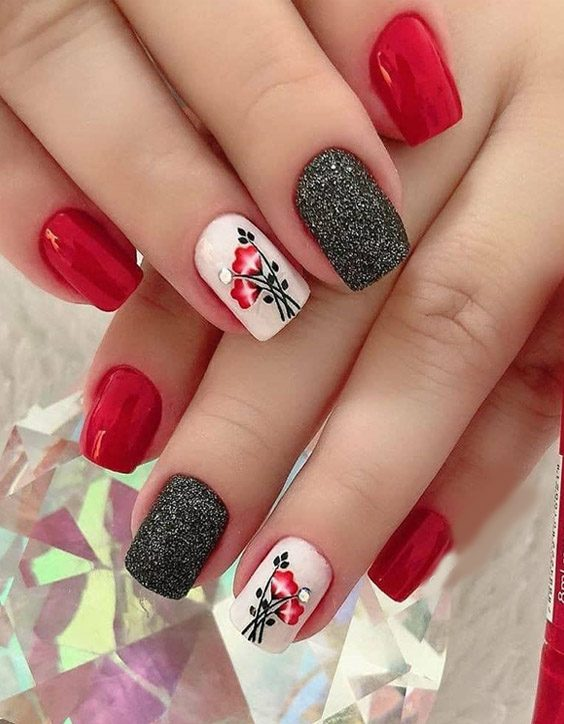Bold Style of Red Nails to Enhance Finger Beauty