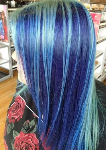 Modern Blue Hair Colors Highlights to Try