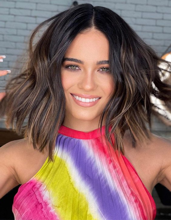 Chocolate Brunette Balayage Hair Color for 2021